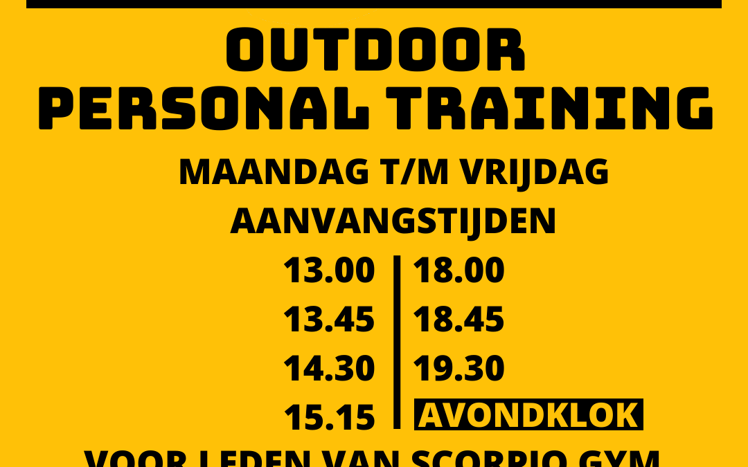 *GRATIS* OUTDOOR PERSONAL TRAINING